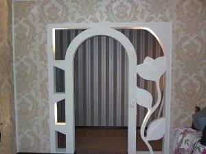 Конструкции арок из гипсокартона