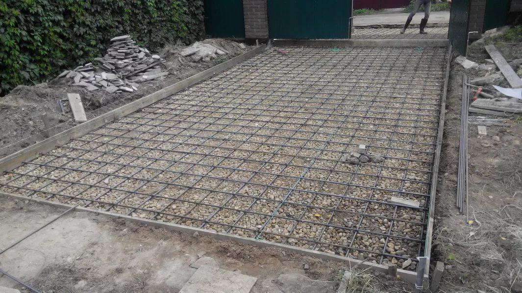 сколько стоит залить бетоном площадку