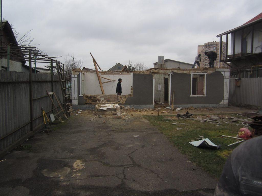 Демонтаж перекрытия дома