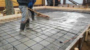 Бетонирование фундаментной плиты в Одессе