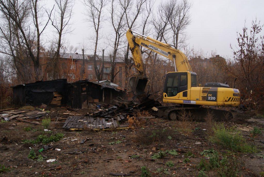 Демонтаж сараев в Одессе