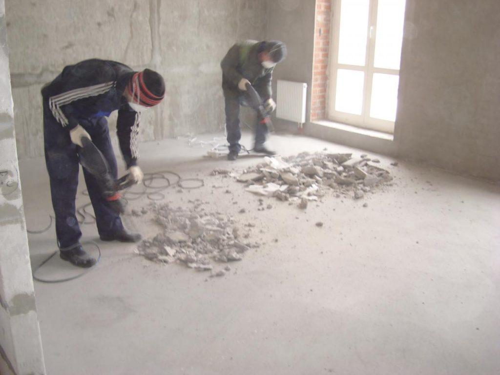 Демонтаж стяжки в Одессе