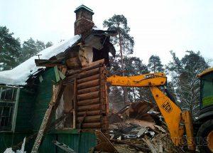 Демонтаж ветхих зданий
