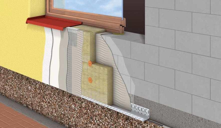 Утепление стен фасада