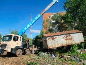 Демонтаж металлических гаражей в Одессе