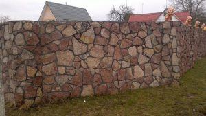 Строительство бутового забора в Одессе