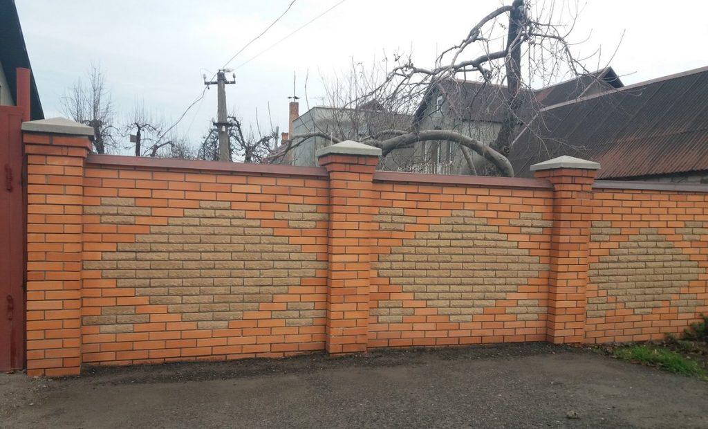 Строительство кипичного забора Одесса