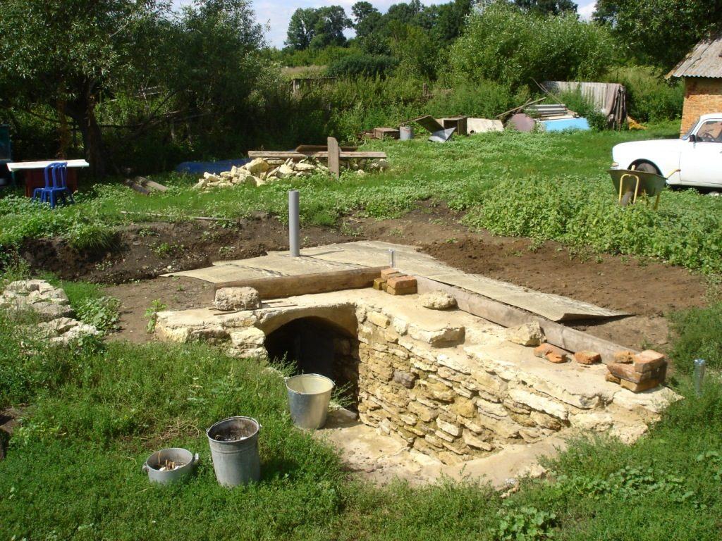 Строительство насыпного погреба в Одессе