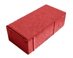 Тротуарная плитка - кирпич дорожный, красный 200x100x40 мм