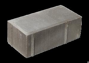 Тротуарная плитка кирпич дорожный 200x100x40 мм серыйТротуарная плитка кирпич дорожный 200x100x40 мм серый