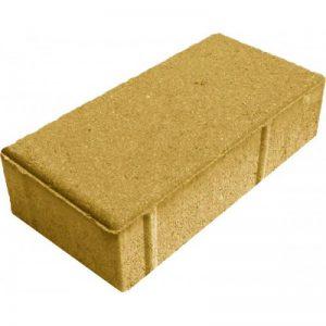 Тротуарная плитка - кирпич дорожный, желтый 200x100x40 мм