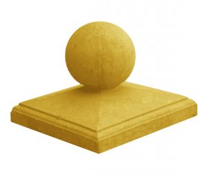 Крышка столба желтая
