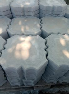 Тротуарная плитка лепесток