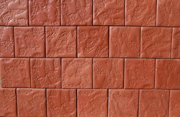 Тротуарная плитка МАНЕЖ - коричневый цвет(30 мм)