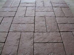Тротуарная плитка Одесский булыжник коричневый цвет