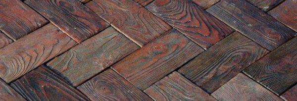 Тротуарная плитка Паркет Таверна коричневый