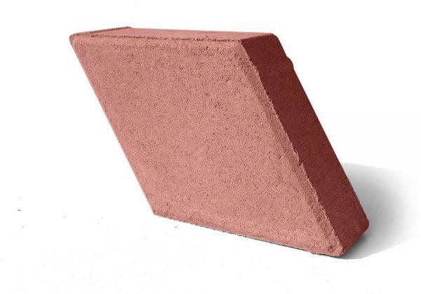 Тротуарная плитка Ромб - красный 330x195x40 мм