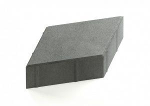 Тротуарная плитка Ромб серый