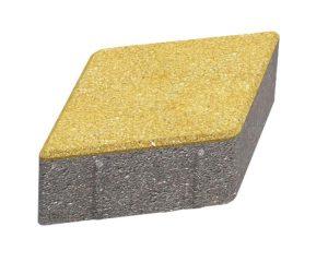 Тротуарная плитка Ромб - желтый 330x195x40 мм