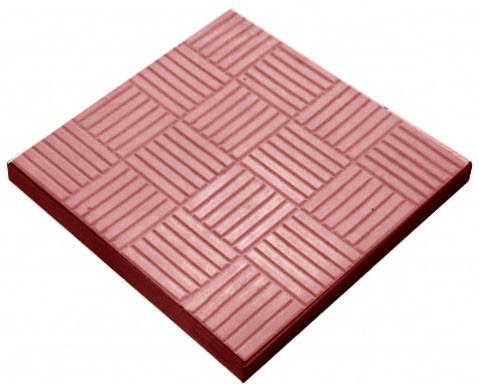 Тротуарная плитка Шоколадка - красный 300x300x35 мм