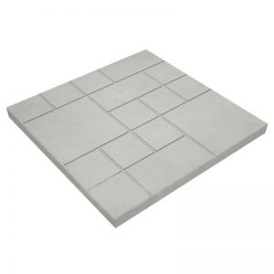Тротуарная плитка Шоколадка - серый 300x300x35 мм