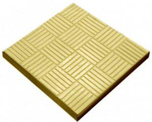 Тротуарная плитка Шоколадка - желтая 300x300x35 мм