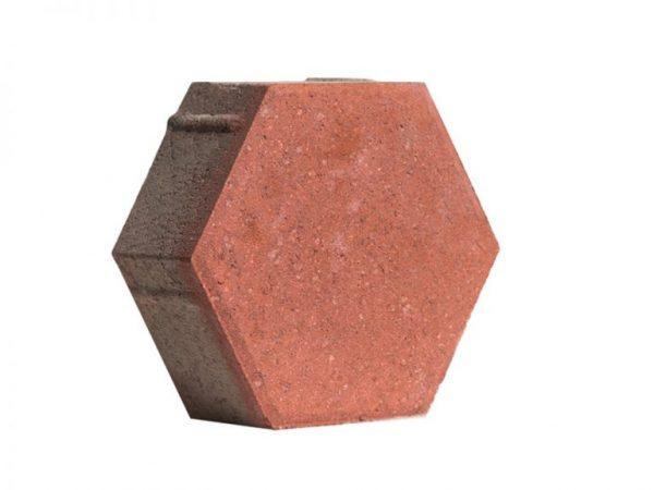 Тротуарная плитка Шестигранник малый красный 290x250x40 мм