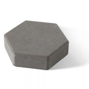 Тротуарная плитка Шестигранник серый 350x300x60 мм