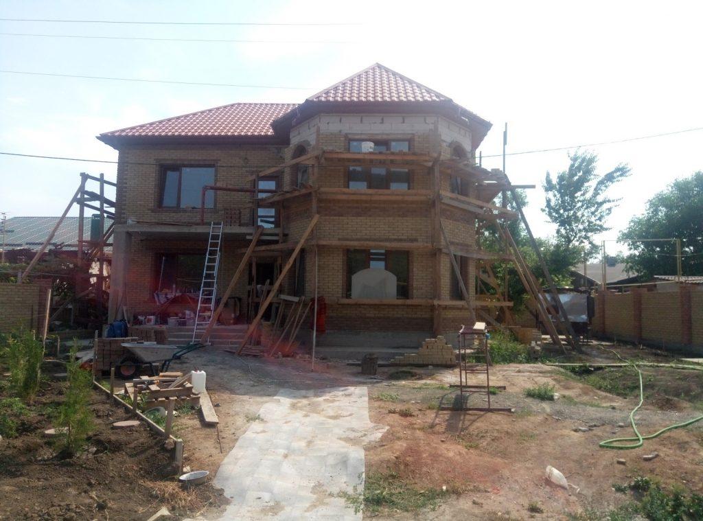 Облицовка фасада кирпичом Скала