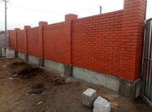 Заказать забор из клинкерного кирпича в Одессе