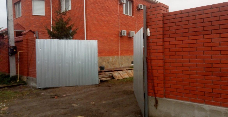 Забор из клинкерного кирпича, Санджейка