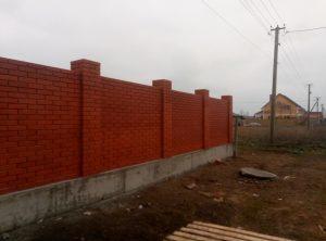 Забор из клинкерного кирпича, Санджейка, Одесская область