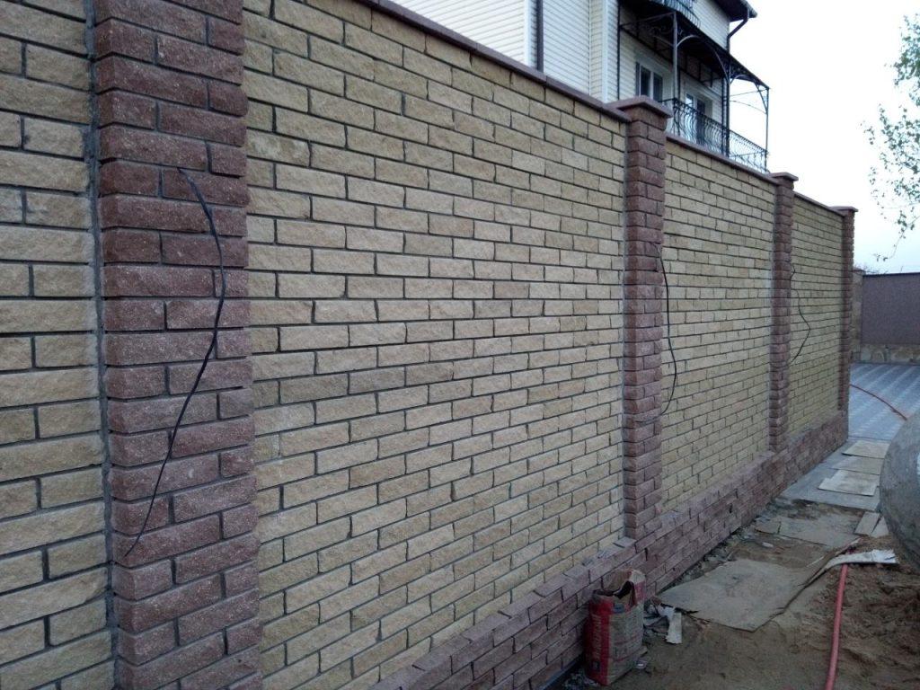 Забор из рваного кирпича Одесса